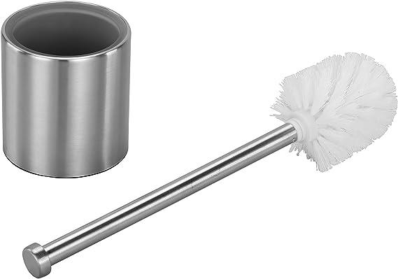 Testa Ricambio Spazzola scopino WC Accessori Bagno Axentia Testina di Ricambio per Spazzola WC in plastica 7,5 cm x Altezza ca 9,5 cm /Ø ca Bianco