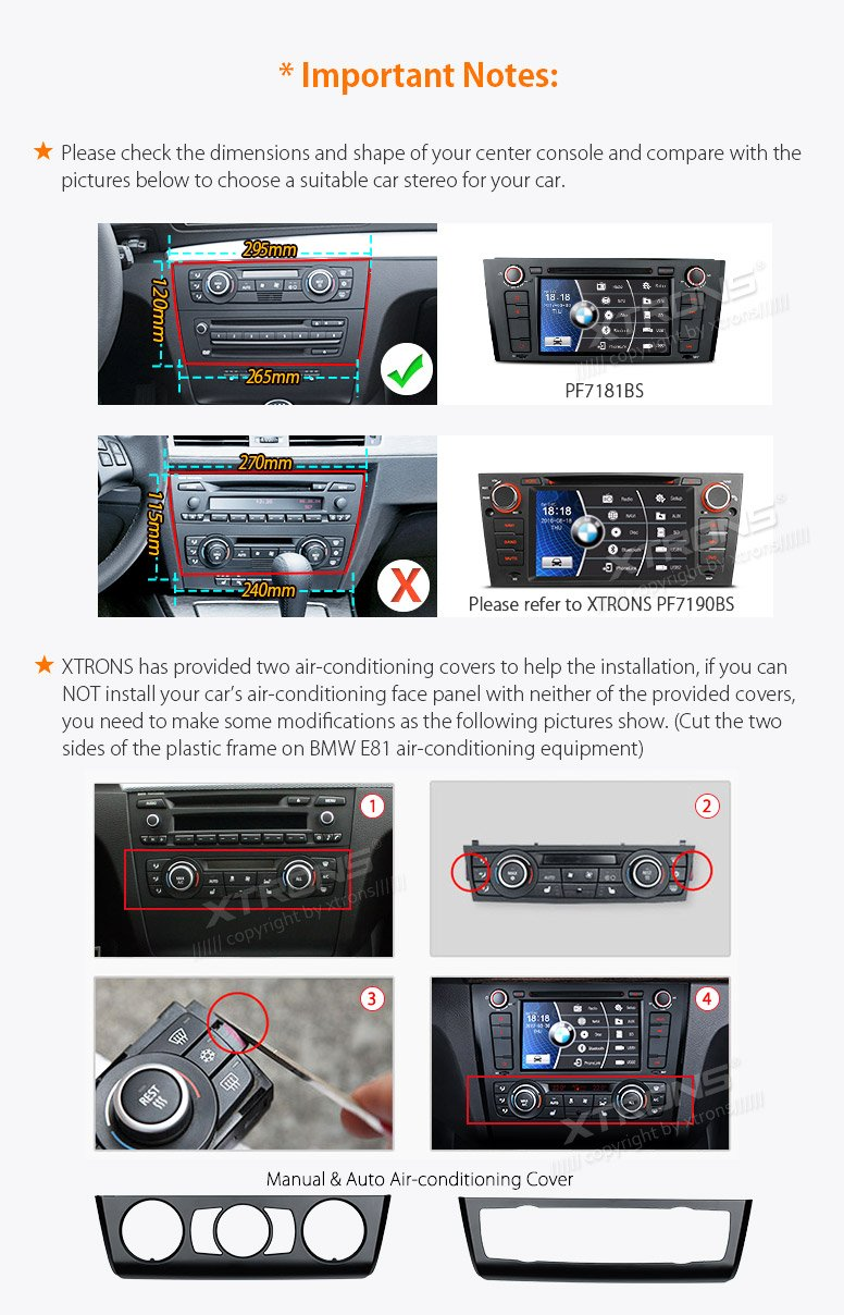 XTRONS 7 Inch HD Digital Touch Screen Car Stereo Radio In-Dash DVD Player with GPS CANbus for BMW 1 Series E81 E82 E88 2007-2014 Map Card Included by XTRONS (Image #4)