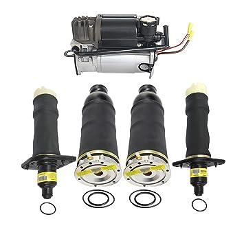 5pcs Conjunto de muelle de aire bomba de compresor de suspensión neumática 4z7616051b, 4z7616051 a, 4z7616007: Amazon.es: Coche y moto