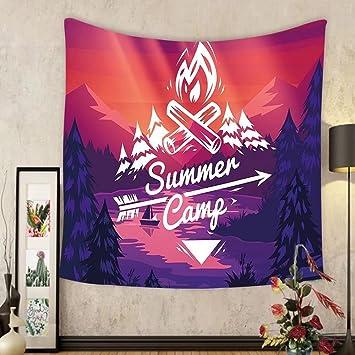 Amazon.com: Gzhihine Custom tapestry Camper Tapestry Retro Poster ...
