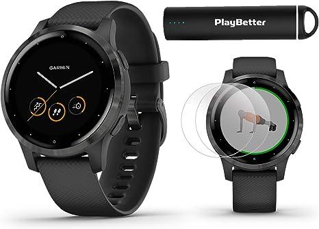 Amazon.com: Garmin vivoactive 4 Smartwatch Power Bundle ...