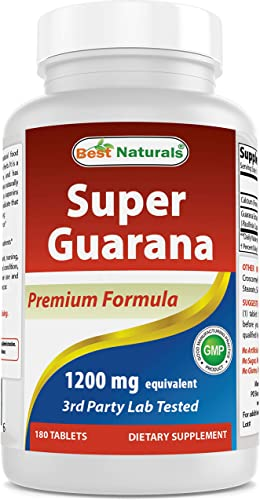 Best Naturals Super Guarana 1200 mg 180 capsules