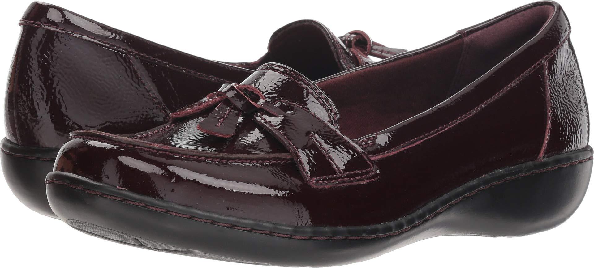 CLARKS Women's Ashland Bubble Burgundy Patent Leather 9.5 B US B (M)