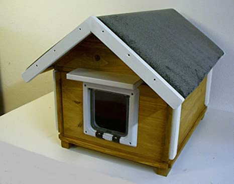 Gato Casa totalmente aislados con gato Solapa y 20 W, calefacción