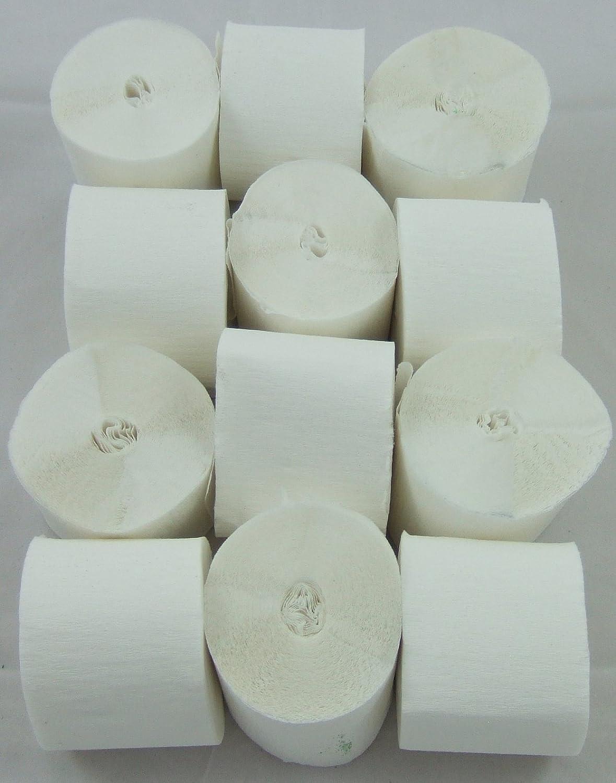 12 Bianco. Filanti Crepe Paper. 45 millimetri x 10 metri. 14 colori vibranti sempre in azione clikkabox C50RW