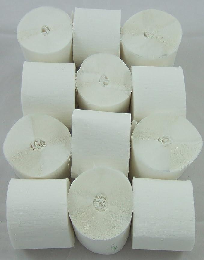 1 opinioni per 12 Bianco. Filanti Crepe Paper. 45 millimetri x 10 metri. 14 colori vibranti