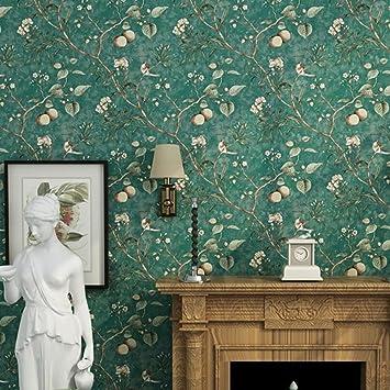 Tapete Vliestapete Country Style Vogel Und Blumen Tapete American Tapete  Retro Aus Alten Apple Baum Blumen
