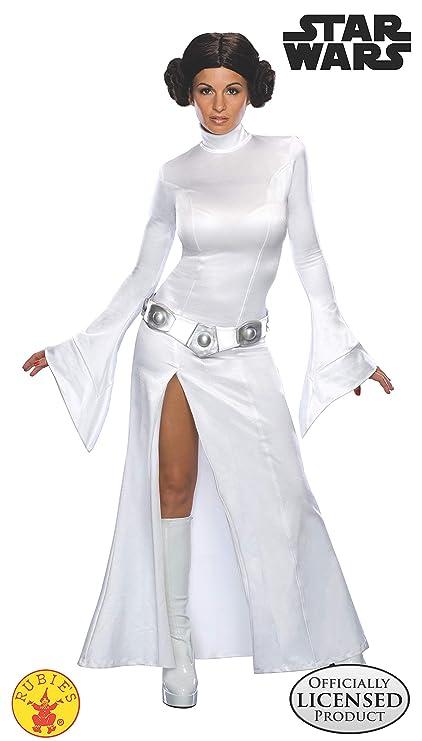 STAR WARS ST-888610M - Disfraz de princesa Leia para adulto, color blanco