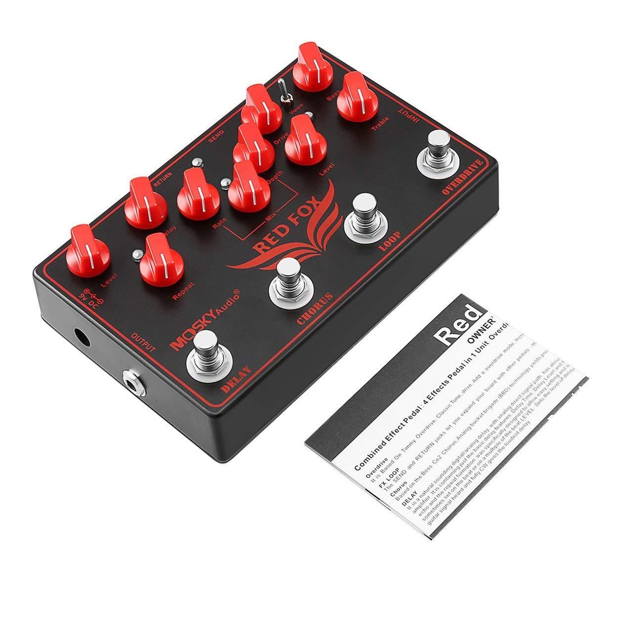 MOSKYAUDIO Blue Delay Tragbare Mini Analog Delay Gitarre Effektpedal 1/4'Mono-Klinke Professionelle Gitarrenzubehö r ClookYeed