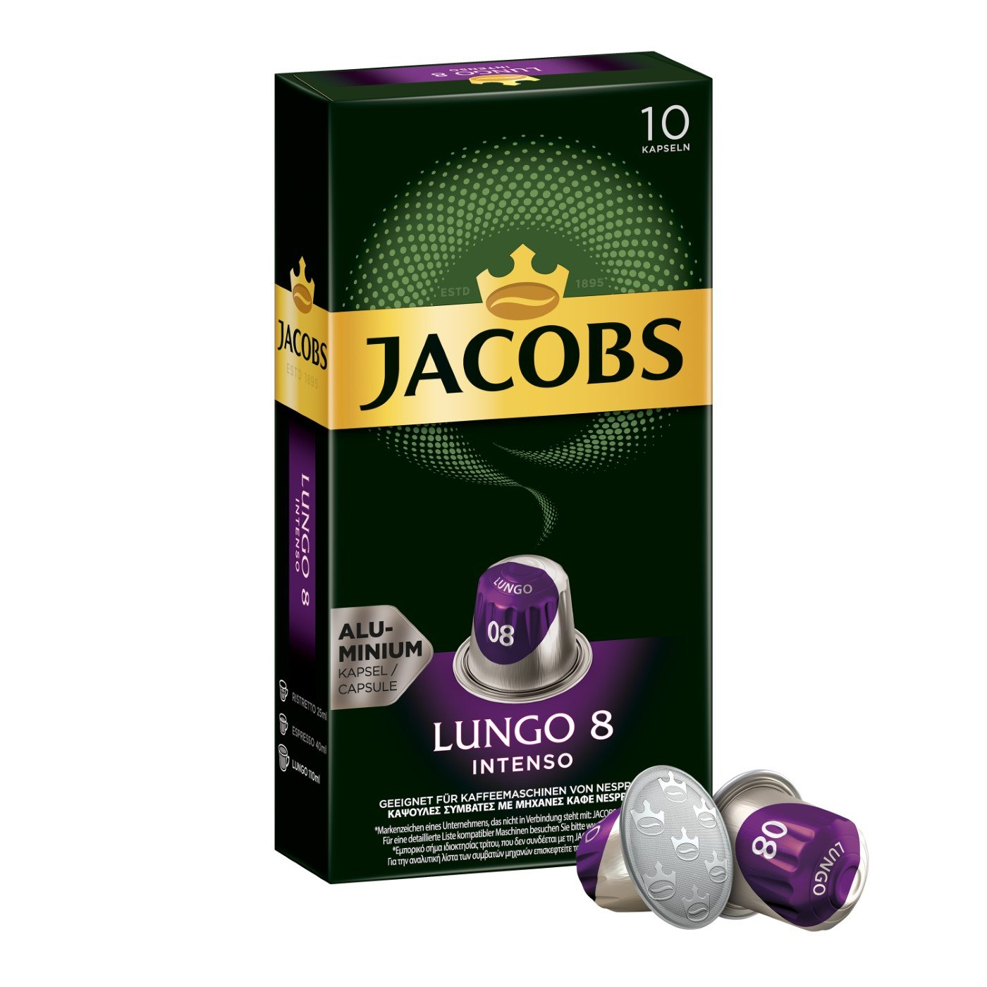 Jacobs Lungo 8 Intenso 咖啡胶囊5包x10只