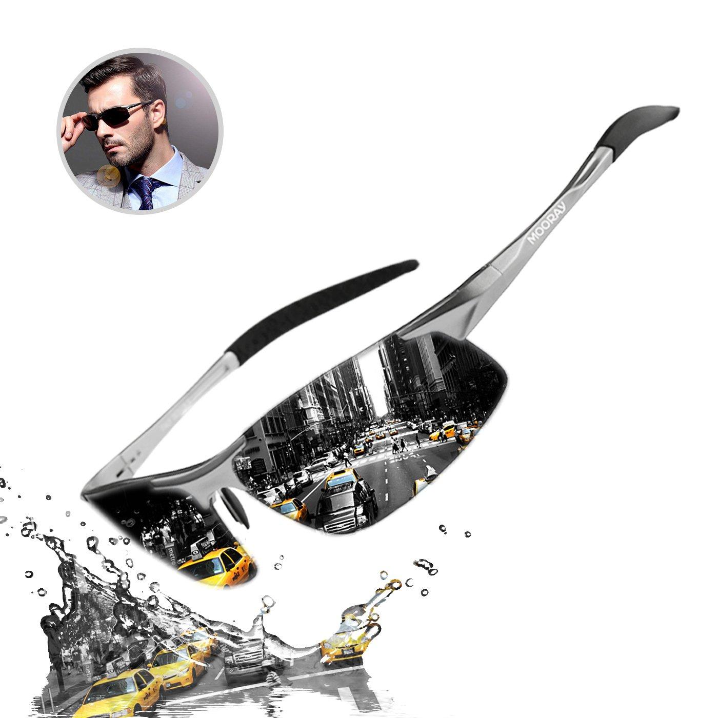 21875d1bfe8 100% Cash Back on MOORAY Mens Sports Polarized Sunglasses UV Protection  Fashion Sunglasses for Men Fishing Driving(Black