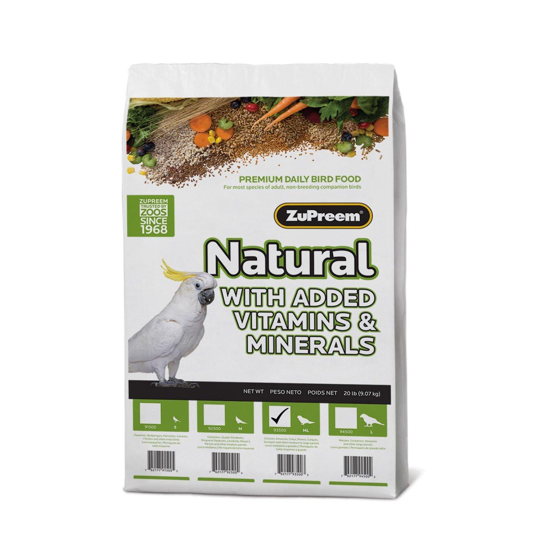 Zupreem 230356 Natural Medium/Large Bird Food, 20-Pound by ZuPreem