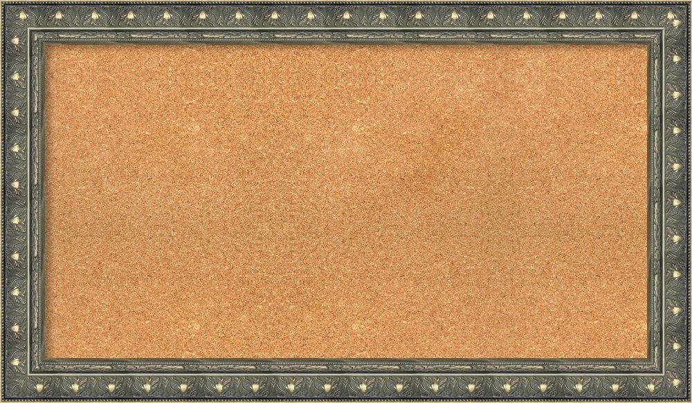 Amanti Art Choose Your Custom Size, Barcelona 38x22 Framed Cork Board 38 x 22