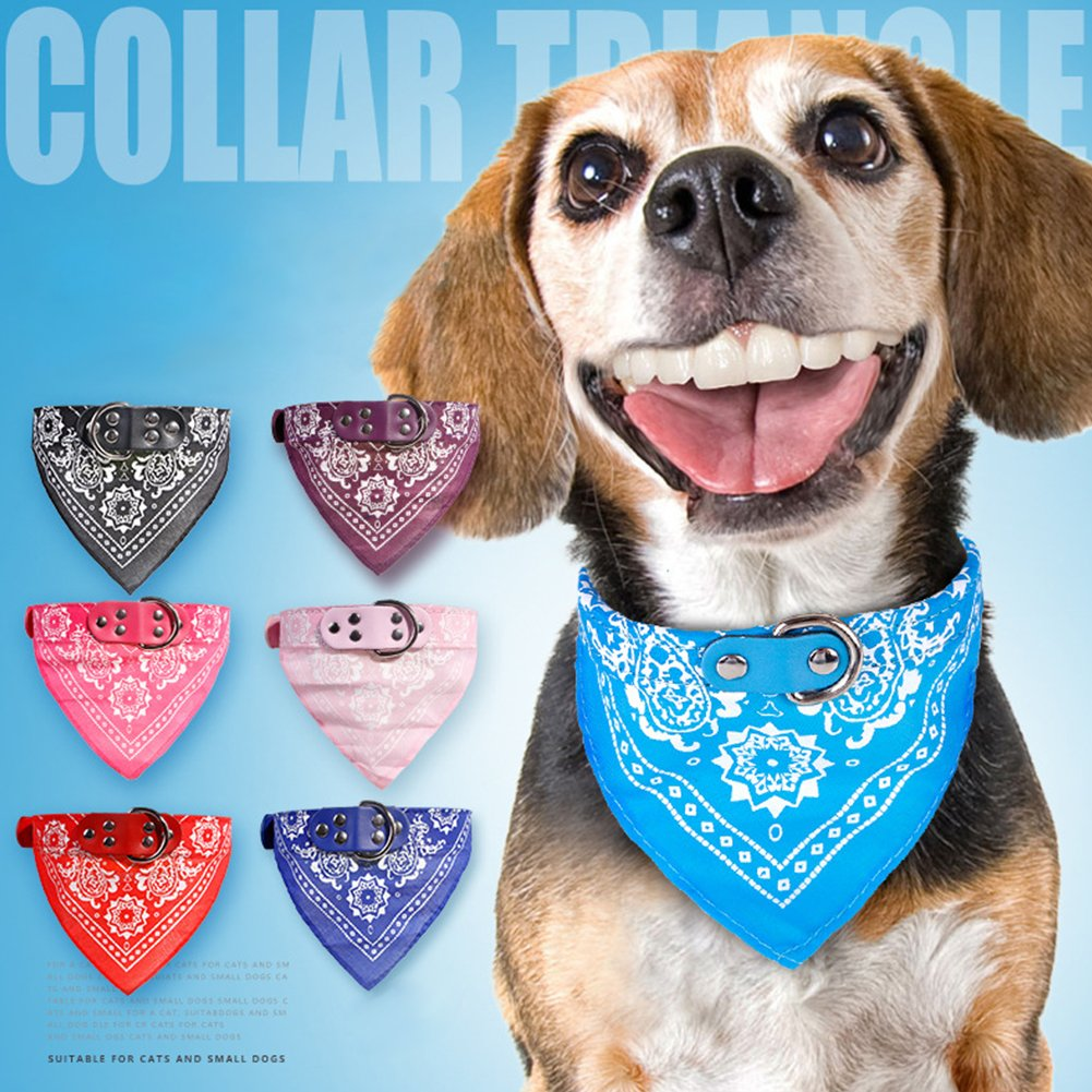 BoodTag Bandana Chien Echarpe Foulard Col Triangle Collier R/églable Motif Paisley pour Chiot Chat Animal de Compagnie