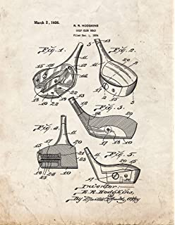 Amazon golf ball patent print art poster blueprint 85 x 11 golf club head patent print art poster old look 85 x malvernweather Image collections