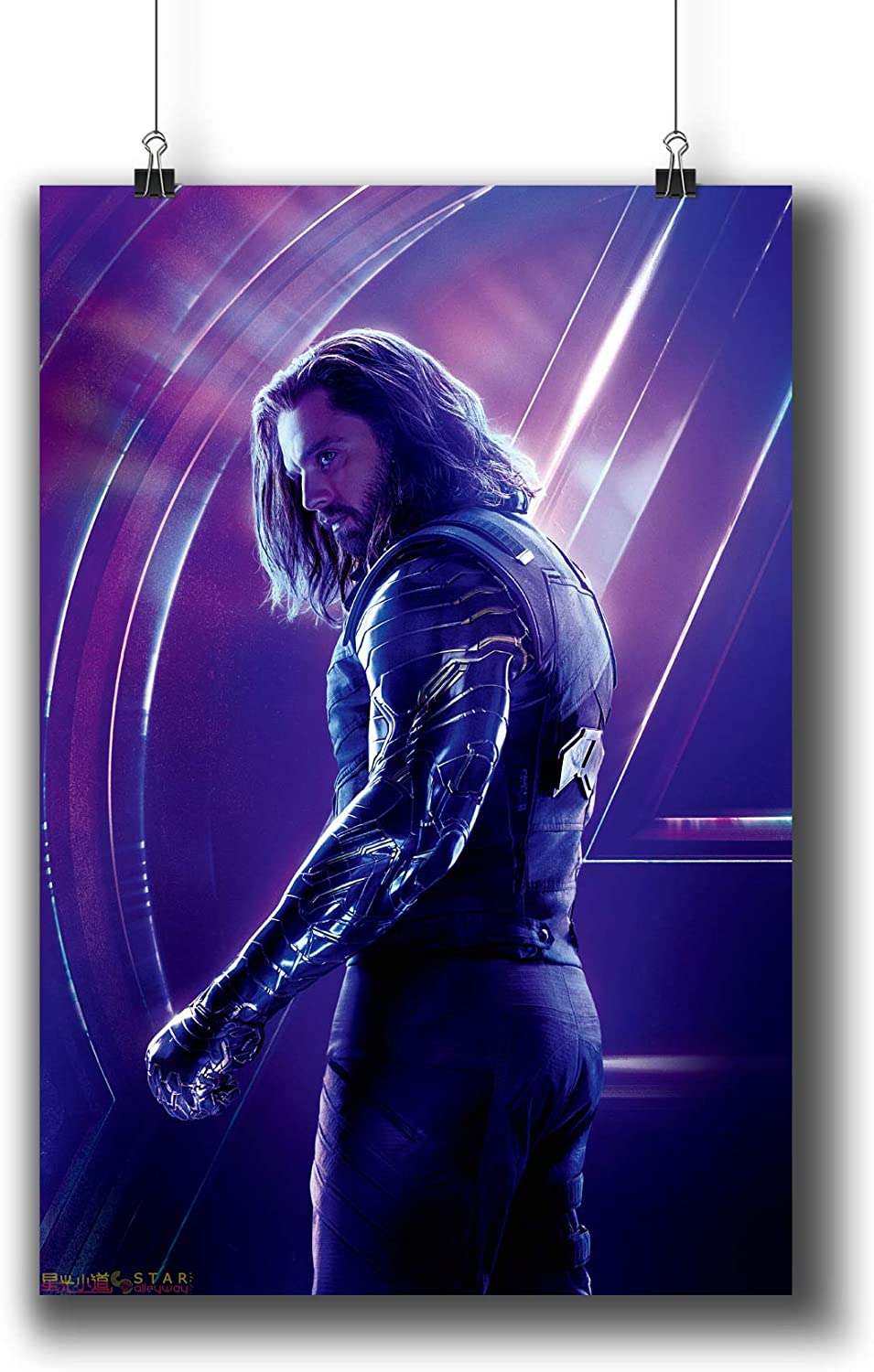 Avengers: Infinity War (2018) Movie Poster Small Prints 183-207 Winter Soldier,Wall Art Decor for Dorm Bedroom Living Room (A3|11x17inch|29x42cm)