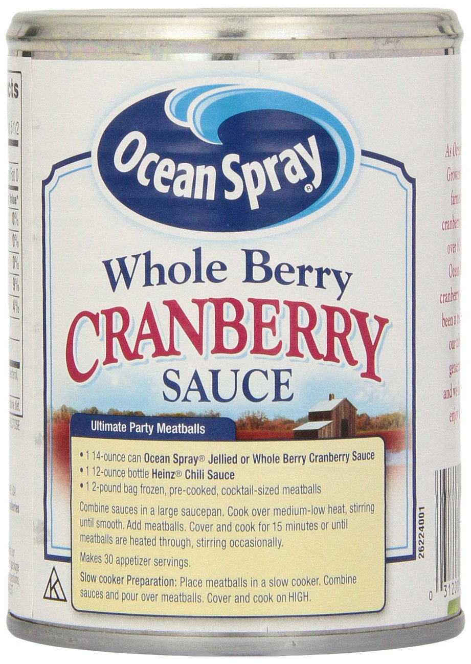 Ocean Spray Whole Berry Cranberry Sauce - 397 gr: Amazon.es: Alimentación y bebidas
