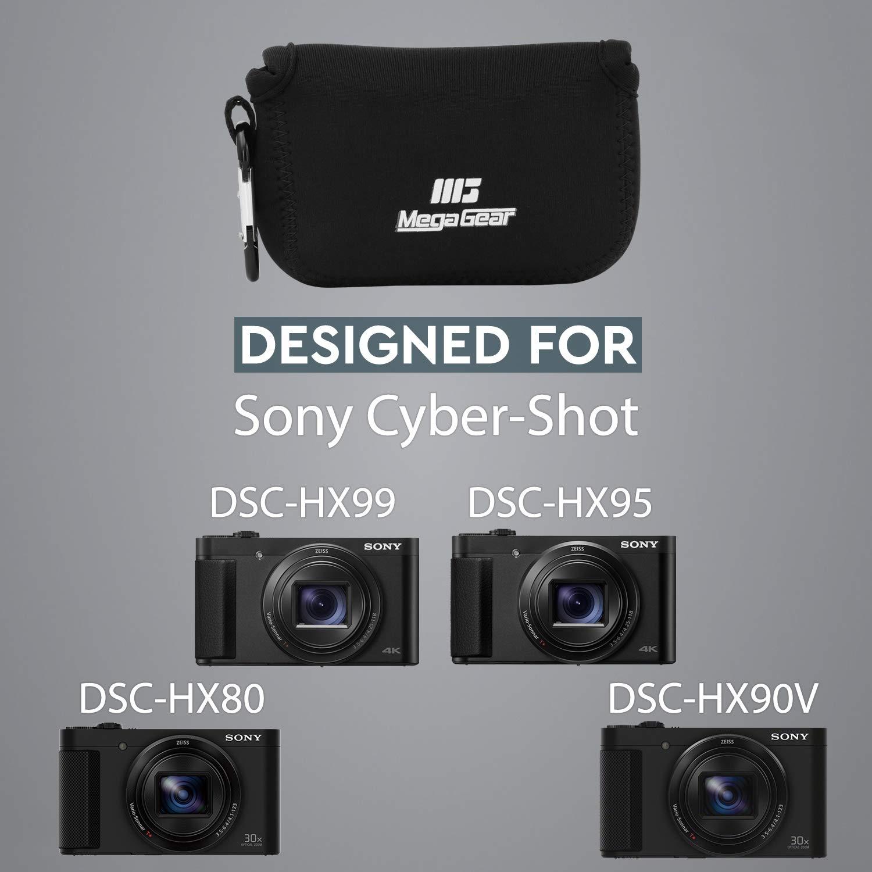 Noir DSC-HX90V MegaGear MG608 Sony Cyber-shot DSC-HX99 DSC-HX95 /Étui en N/éopr/ène avec Mousqueton DSC-HX80 Ultra Light