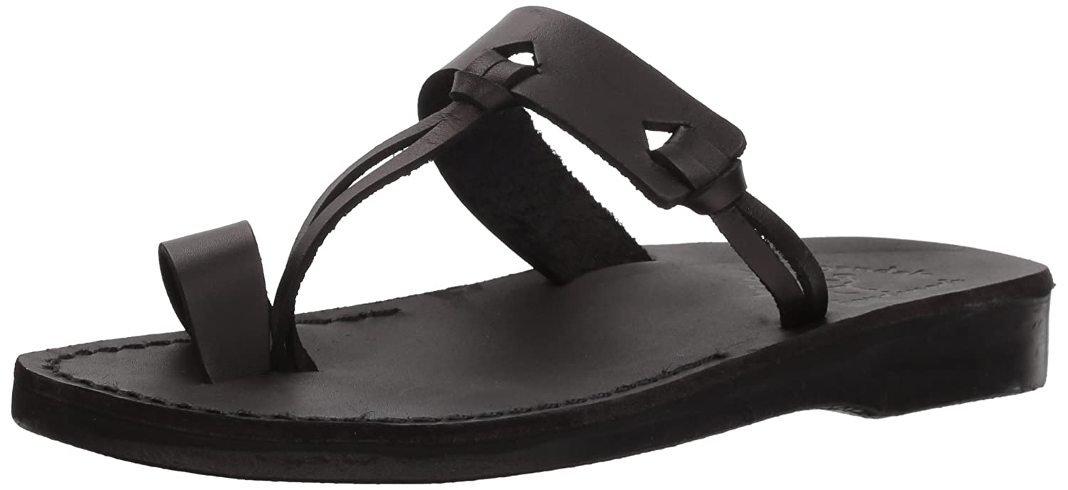 Jerusalem Sandals Women's David Slide Sandal B075KXDC9K 42 Medium EU (11-11.5 US)|Black