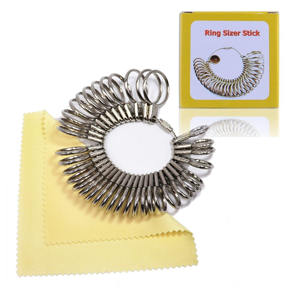 Ring Sizer Ring Measuring - 27Pcs 1-13 Finger Sizing Measuring Tool Size Ring Measuring Circles Models Ring Gauge Set Jewelry Making Tools Jewelry Sizer Kit for Men & Women DOALIMI 4336837211