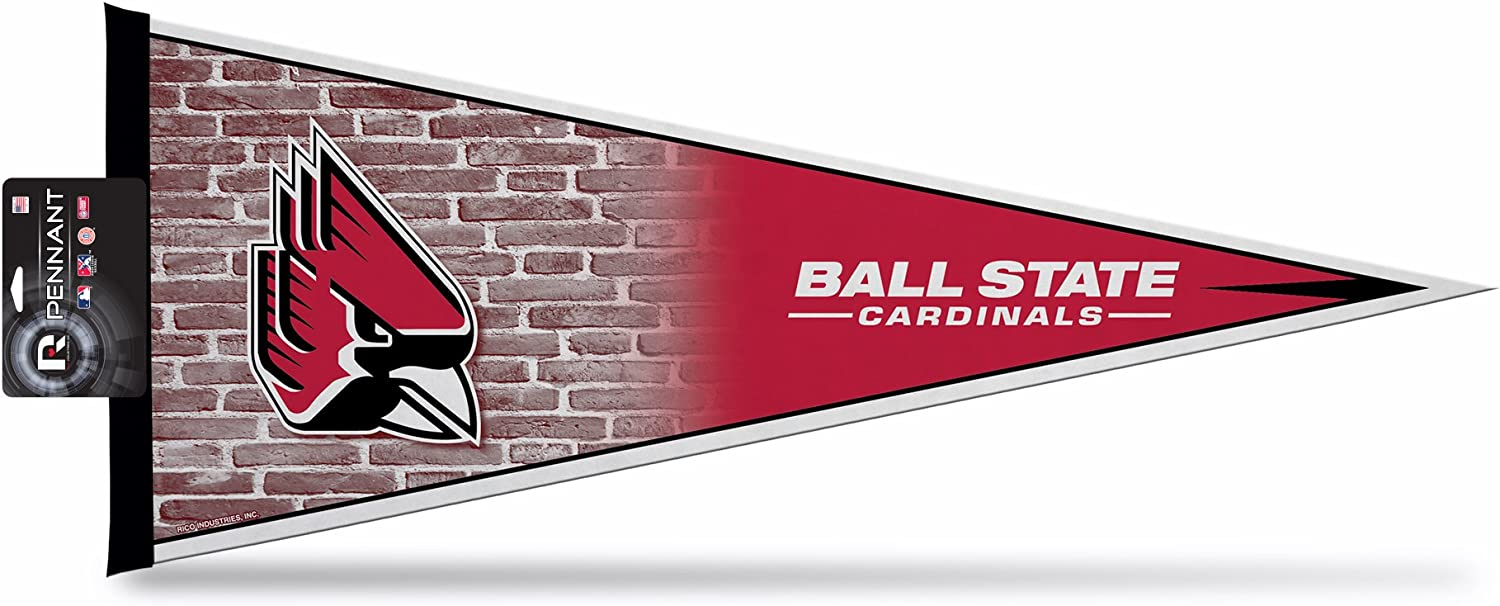 Rico Industries PNTH200502-H  NCAA Ball State Cardinals Classic Pennant D/écor,Multicolor,12 x 30