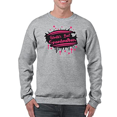 AW Fashions Worlds Best Grandmother - Birthday Gift Unisex Crewneck Sweatshirt (Small, Sports Grey