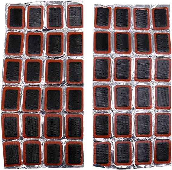 48x for Rubber Puncture Patches Bicycle Bike Tire Tyre Tube Repair Cycle Kit