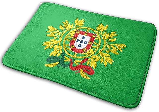 Flimy Na Escudo de Armas de Portugal Felpudo Antideslizante Casa Puerta de jardín Alfombra Alfombra Puerta Alfombrillas de Piso: Amazon.es: Hogar
