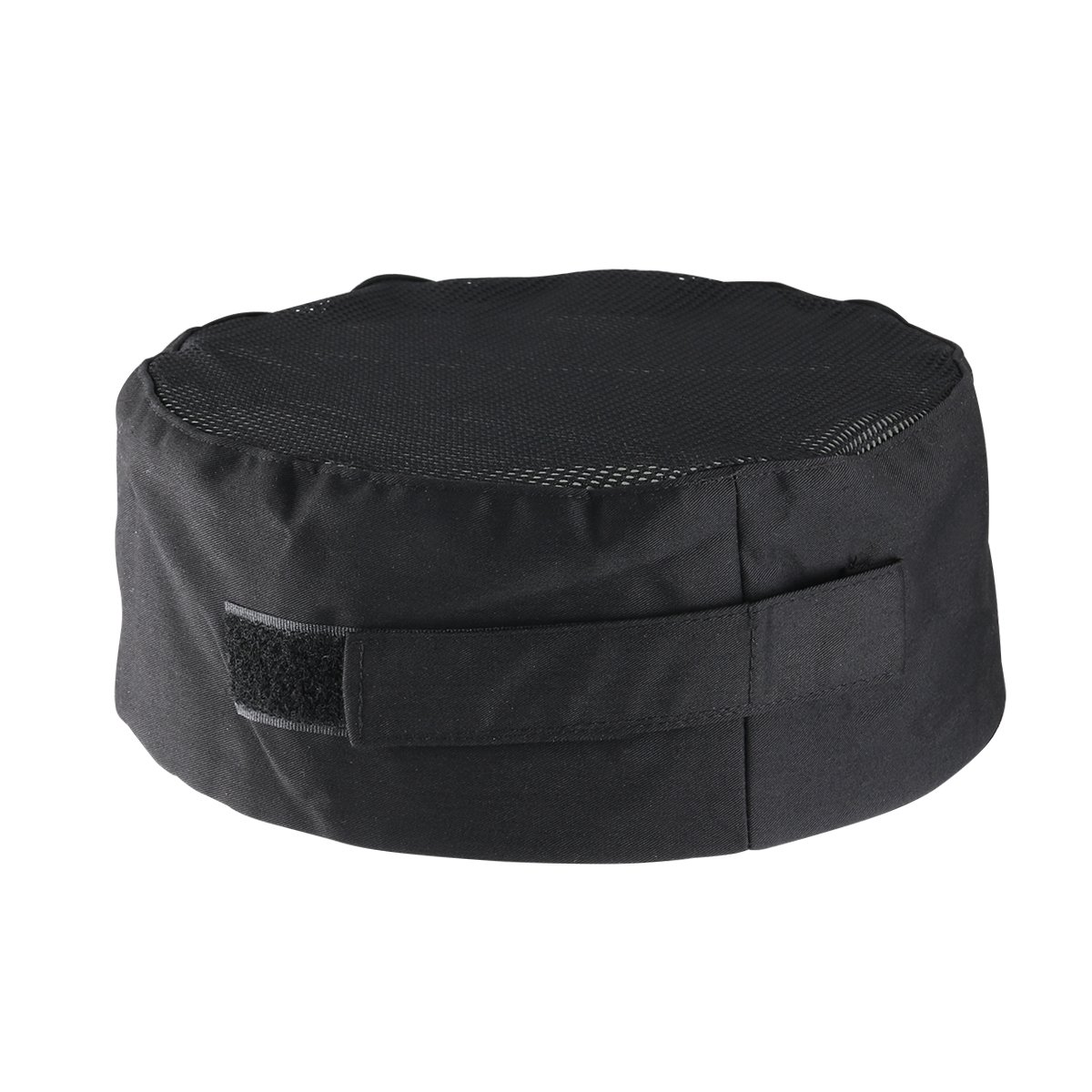 Breathable Mesh Top Skull Cap Professional Catering Chefs Hat with Adjustable Strap One Size