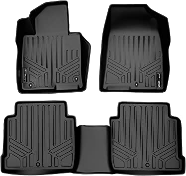 SMARTLINER Custom Fit Floor Mats 2nd Row Liner Black for 2015-2019 Ford Edge