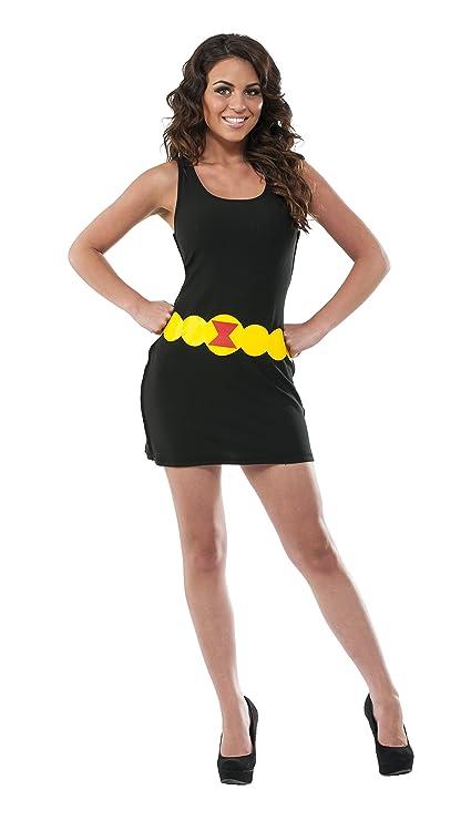 Vestido disfraz de Viuda negra Marvel para mujer: Amazon.es ...
