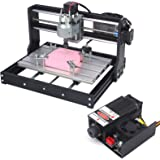 2-in-1 5500 mW 3018 Pro CNC Router Engraving Machine, GRBL 3 Axis Engraver Wood Plastic Acrylic PCB PVC MDF Carving…