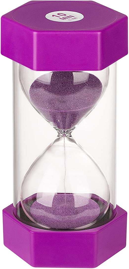 10//15 Minutes Crystal Sandglass Kitchen Cook Timer Hourglass Game Supplies