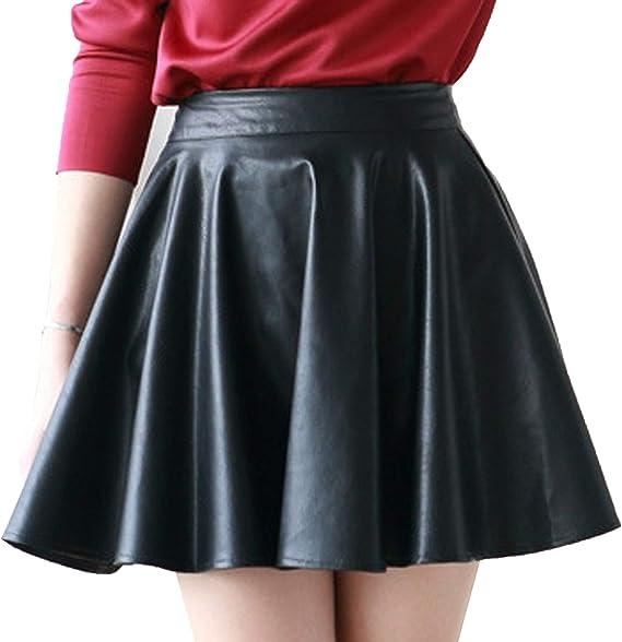 スカート 黒 レザー