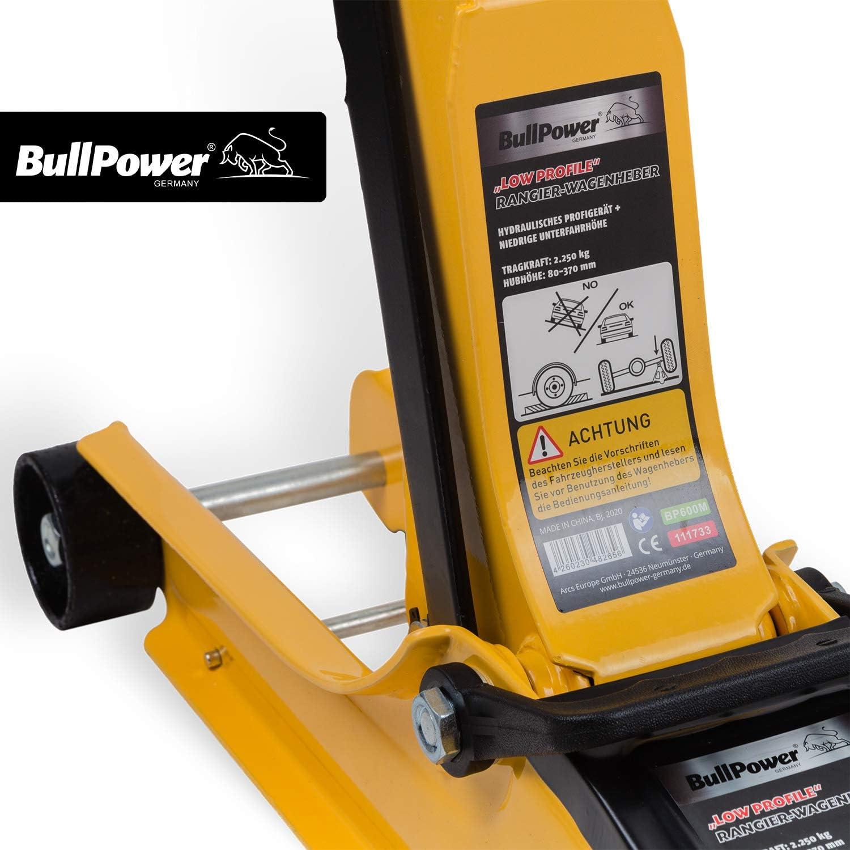 Bullpower Bp600m Low Profile Wagenheber 80 370mm 2250kg Racing Wagenheber Sportwagen Rennsport Auto
