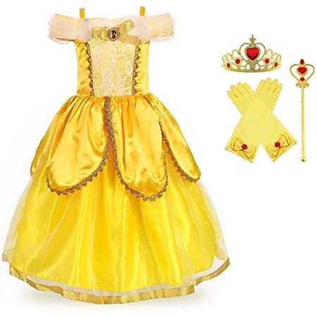 La Bella y La Bestia Cosplay Princesa Vestido, Halloween ...