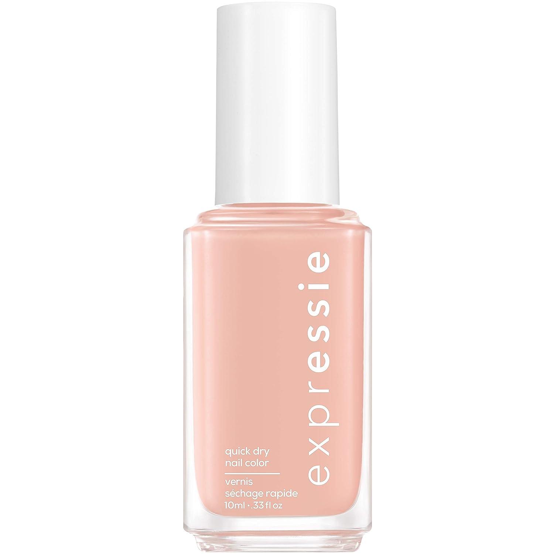 essie expressie Quick-Dry Nail Polish, Soft Pink Beige 000 Crop Top & Roll, 0.33 Ounces