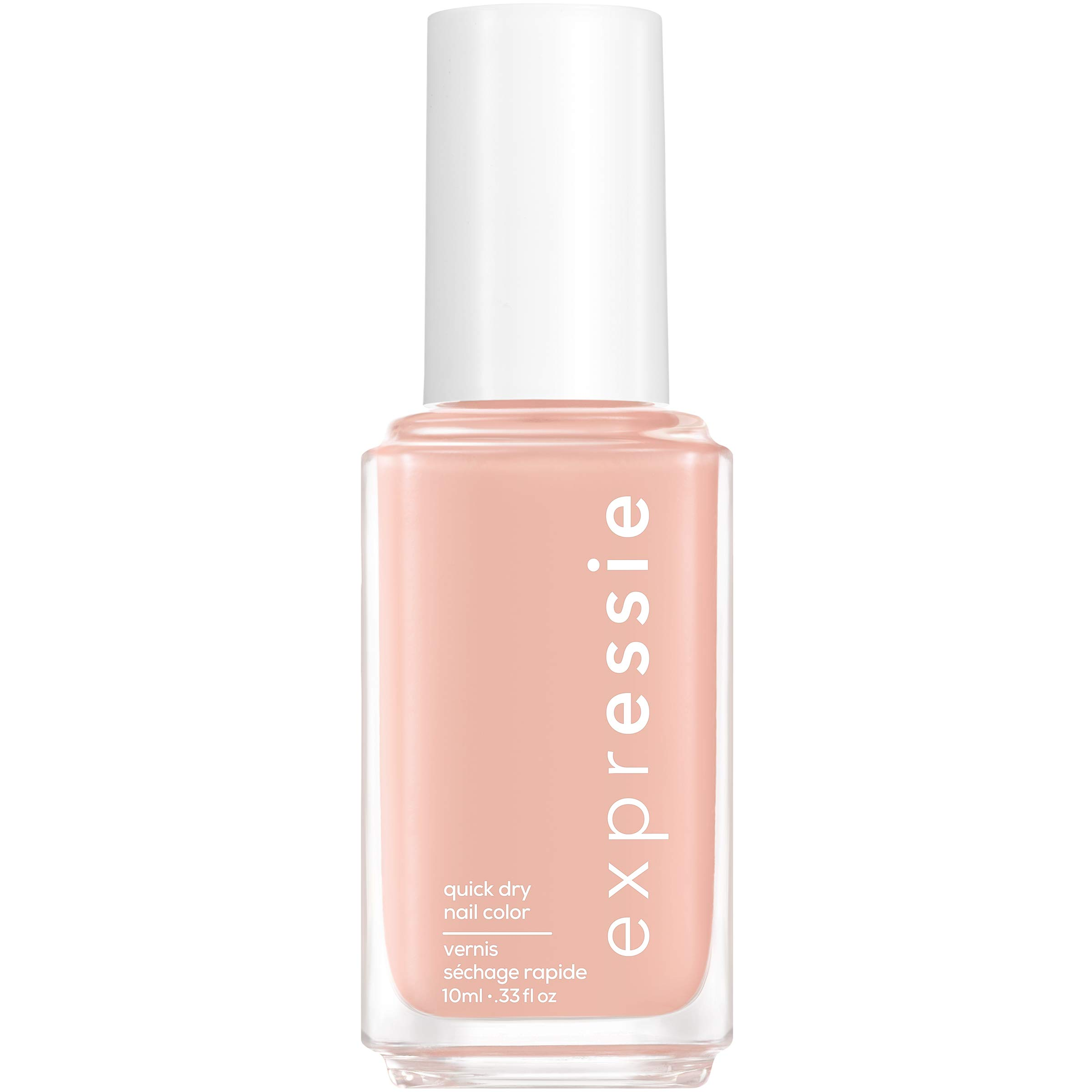 essie expressie Quick-Dry Vegan Nail Polish, Soft Pink Beige 000 Crop Top and Roll, 0.33 Ounces