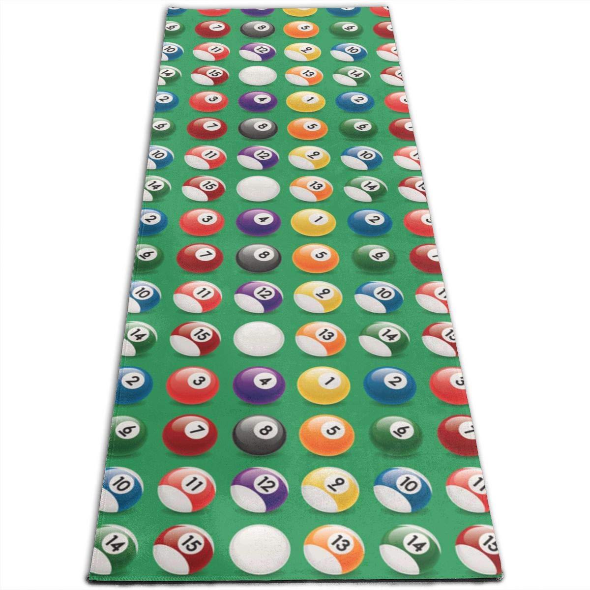 Amazon.com: Billiard Balls Colors Pattern Printed Yoga Mat ...