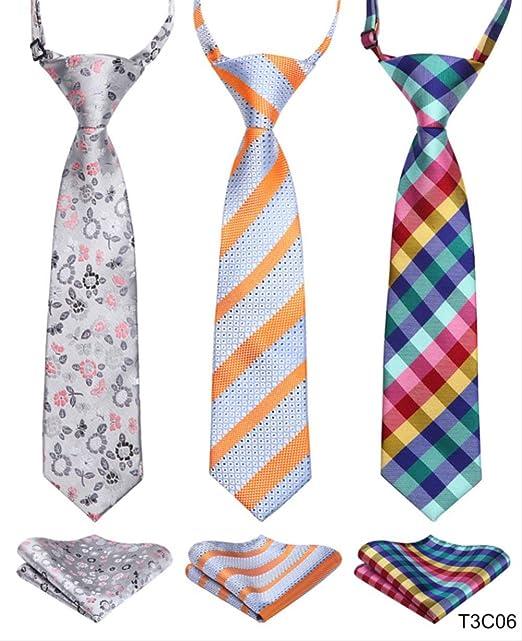 XYXZH corbata Corbata Niño Pre-atado Corbata Para Niños Tejidos ...