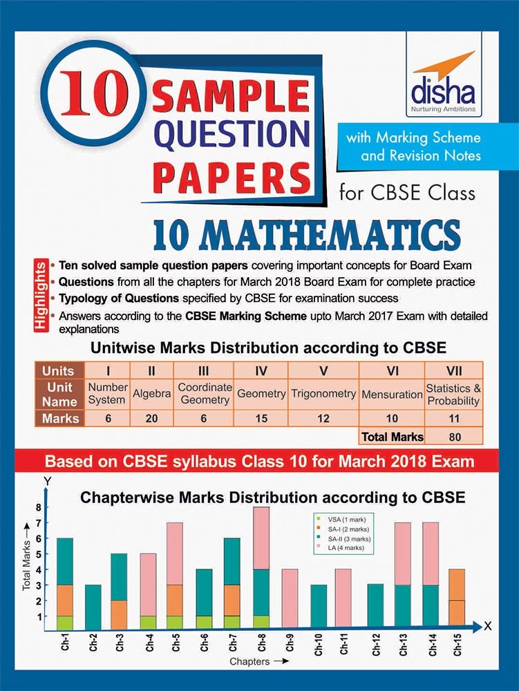 10 Sample Question Papers for CBSE Class 10 Mathematics with