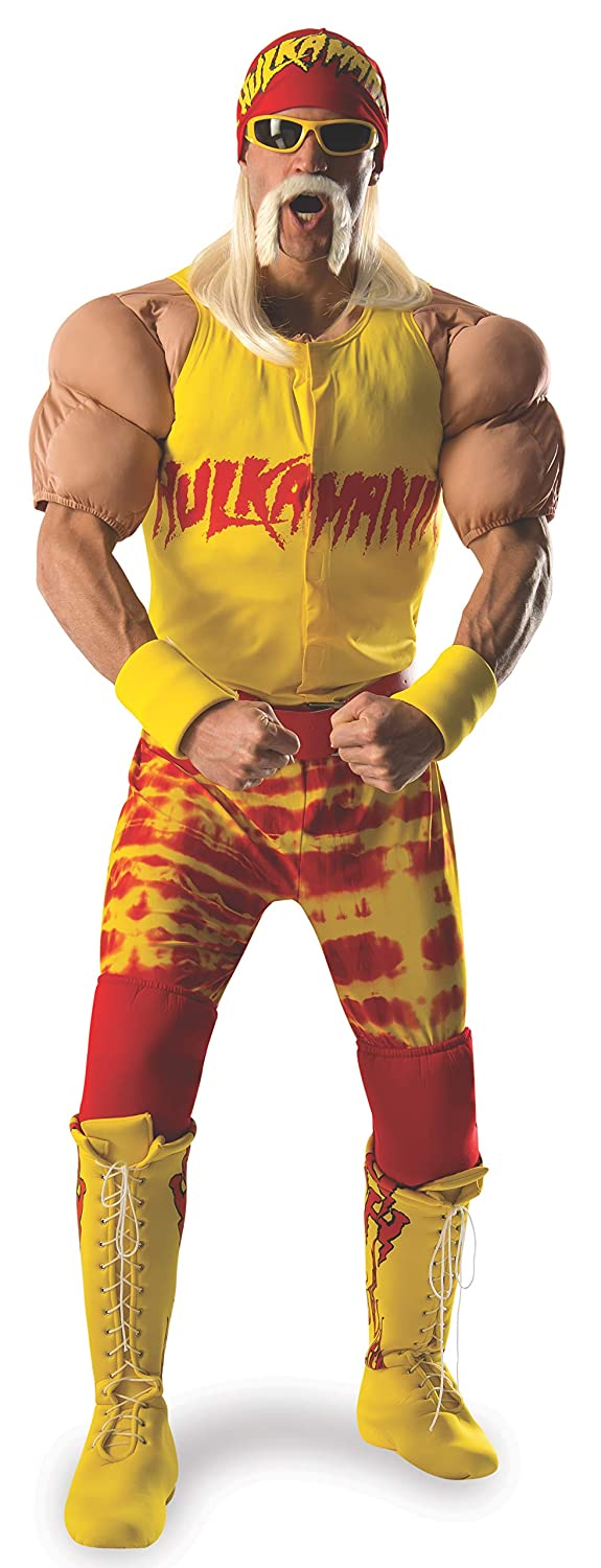 Rubie's Costume Co Men's WWE Hulk Hogan Grand Heritage Costume