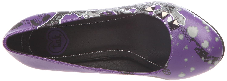 T.U.K. A8095L - Zapatos de tacón, color Violet, talla 37