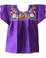 Mexican Peasant Puebla Blouse 3X (Purple)