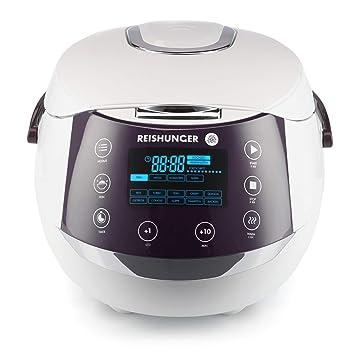 Reishunger Digitaler Reiskocher (1,5l/860W/220V) Multikocher mit 12 Programmen, 7-Phasen-Technologie, Premium-Innentopf, Time