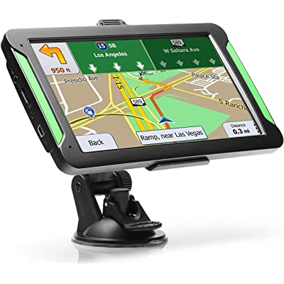 "GPS Navigation for Car, LTTRBX 7"" Touch Screen 8GB Real Voice Spoken Turn-by-Turn Direction Reminding Navigation System for Cars, Vehicle GPS Satellite Navigator with Free Lifetime Map Update (Black): GPS & Navigation"