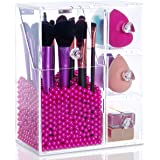 Lifewit Langforth 5mm Thick Acrylic Makeup Organizer Case with Rosy Pearl, Type4