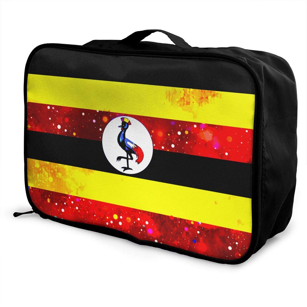 Portable Luggage Duffel Bag Uganda Starry Flag Travel Bags Carry-on In Trolley Handle