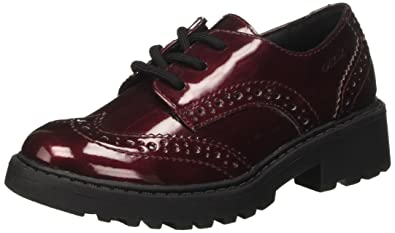 | Geox brogues for women in burgundy colored