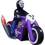 AsterOutdoor - Accesorio Inflable para Motocicleta de Halloween de 1,8 m de Largo, para jardín, jardín, decoración de día Fes